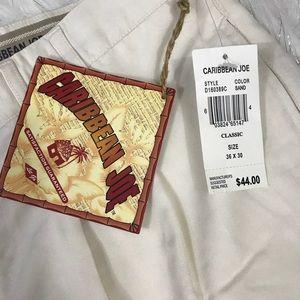 Caribbean Joe Pants - Caribbean Joe Tan Dress Pants 36 x 30 NWT
